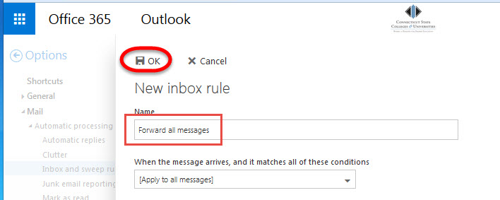Change junk email settings office 365